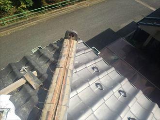 千葉市 瓦屋根の棟ズレ 工事002_R