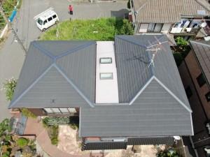 屋根施工後の写真