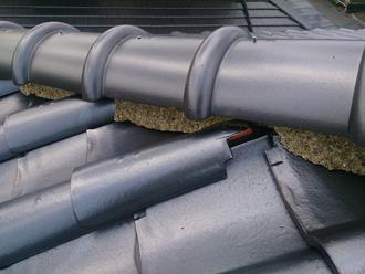 茂原市 雨漏り 天井にシミ 瓦屋根 屋根補修 漆喰補修