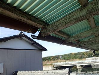 木更津市 風災による雨樋001_R
