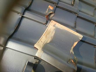茂原市 瓦の被害修理005_R