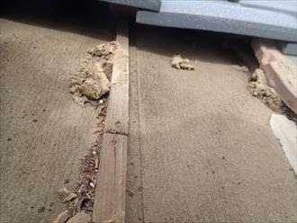 君津市 屋根の調査 防水紙 瓦桟