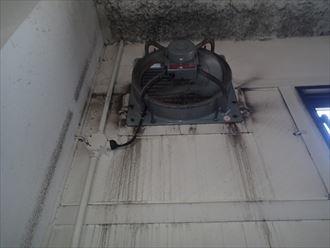 換気フード付近の雨漏り 木更津市
