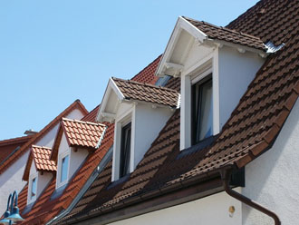 ドーマーのある屋根
