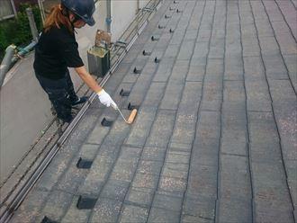 千葉市緑区 下塗り 屋根塗装 005_R