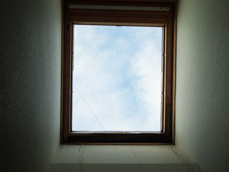 天窓からの雨漏り