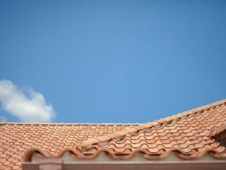 屋根の一部