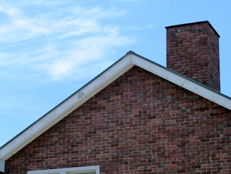 煙突のある屋根