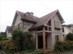 富里市で屋根用遮熱塗料のサーモアイ4F・外壁用ハイブリッド塗料のパーフェクトトップを使用し屋根外壁塗装工事ビフォー