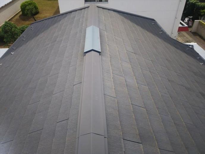 船橋市習志野台で行った化粧スレート屋根調査で築10年の屋根の塗装の劣化