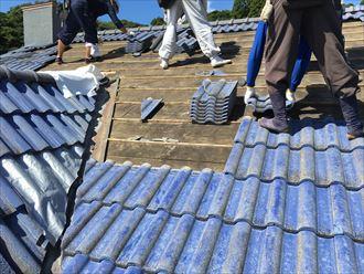 勝浦市 屋根葺き替え工事 剥がし007_R