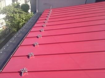 屋根葺き替え工事後のトタン屋根