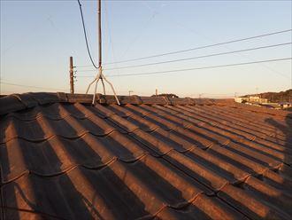 木更津で住宅屋根の点検に伺いました。2階はセキスイU瓦