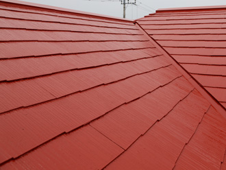 屋根塗装後の屋根の状況