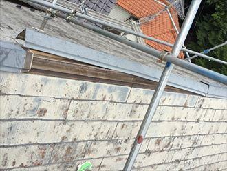 千葉市緑区で棟板金の交換とシリコン塗料で塗装工事ビフォー