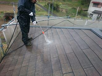 君津市 屋根の塗装工事 高圧洗浄003_R