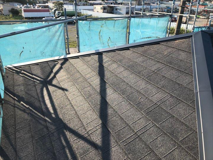 柏市今谷上町で雨漏りしている瓦屋根をディートレーディングのディプロマット(オニキス)で屋根葺き替え工事アフター