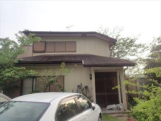 富津市のコロニアル屋根カバー、一緒に雨樋交換も行います