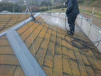 君津市 屋根の塗装工事 高圧洗浄002_R
