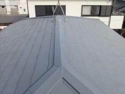 四街道市でスーパーガルテクトによる葺き替え工事とラジカル制御型塗料での屋根塗装実施ビフォー