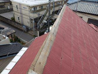 松戸市にて強風により落下したドーマーの棟板金を交換し雨漏りを防止