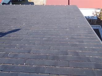 木更津市清見台にて火災保険を利用し、パミールの割れをスーパーガルテクトによる屋根カバー工法で改善
