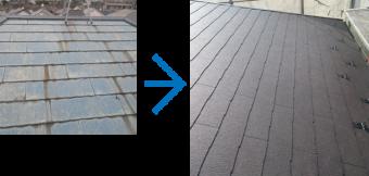 ストレート屋根の料金目安 全体工事の料金目安