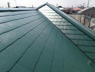 緑のカラーベスト屋根