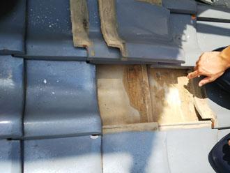 防水紙の湿り