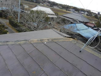 棟板金と貫板の解体と撤去