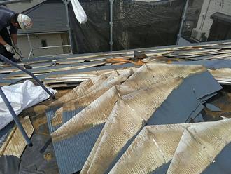 スレート屋根の解体