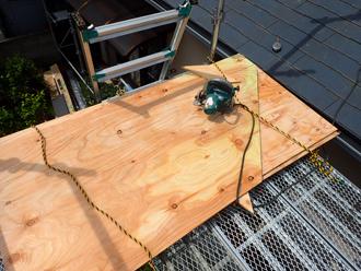 構造用合板の加工して野地板に用いる